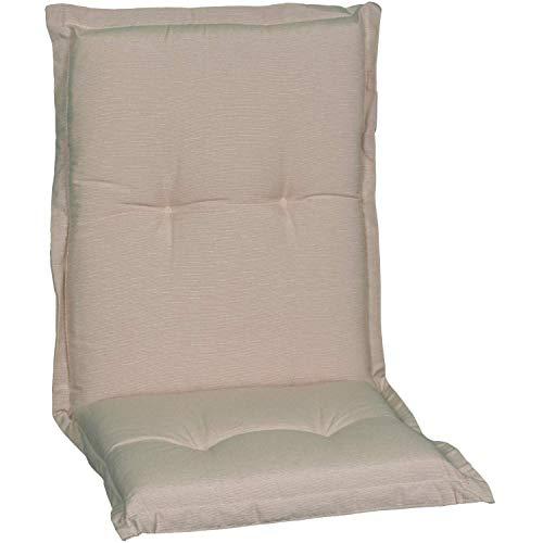Beo NL Nizza P203 - Cuscino per sedia da giardino con schienale basso, 94 x 46 cm (La x Lu), spessore ca. 8 cm