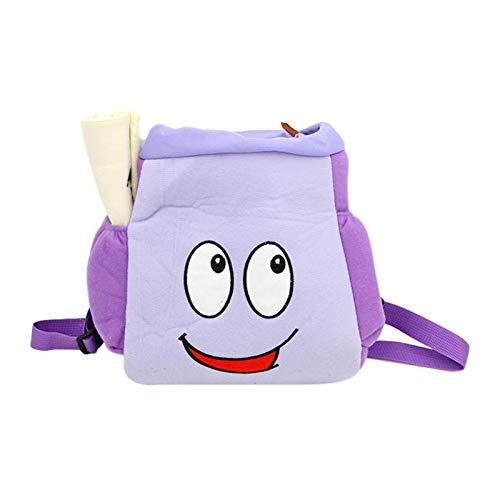 AIHOME Mochila creativa para niños con mapa, juguetes de guardería, bolsa de almacenamiento de dibujos animados, color morado
