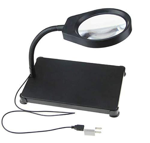 LILICEN LYJ 8 Veces el Vidrio de la lámpara de Escritorio con Ancianos Lectura de Gran Aumento Lente de Cristal óptico de Cristal de Vidrio Espejo LED 8-10 Veces la Lupa for la Lectura