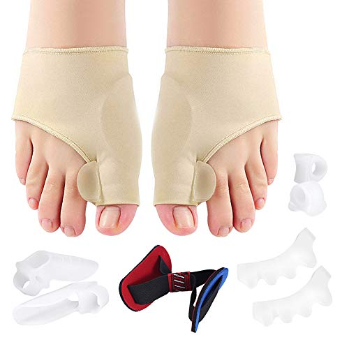 relief for bunions Bunion Corrector and Bunion Relief Protector Sleeves Kit, Hammer Toe Straightener Straps Big Toe Separator Bunion Sleeve Socks for Hallux Valgus Pain Relief, Bunion Splint for Women and Men - 9Pcs