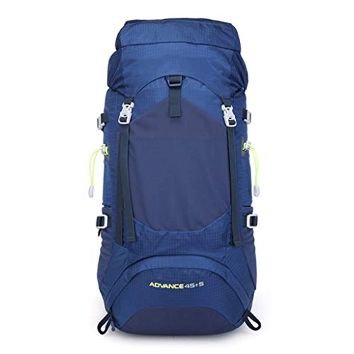 hhh Climbing Backpack, Hiking Bag Outdoor Movement Equipment Ackpack Nylon 50L High Capacity Waterproof Backpack Unisex Travel Pack Bag Hiking Outdoor Mountaineering Backpack (Color : B)