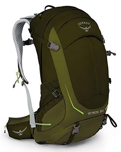 Osprey Stratos 34 Men's Ventilated Hiking Pack - Gator Green (M/L)