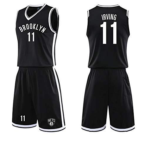 Completo da Basket per Uomo, Maglia per Tifosi di Brooklyn Nets, Maglia da Allenamento per Allenamento Kyrie Irving n. 11, Completo da Basket per uomo-black-3XL