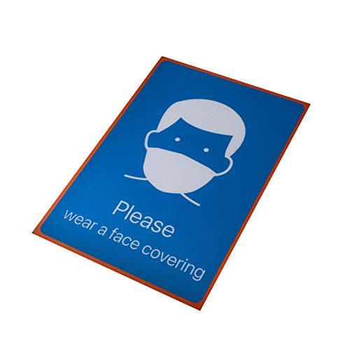 M&M Advantage Please Wear Face Mask Sign – Cartello di avvertimento A4 – Segnaletica resistente – Vinile autoadesivo 210 x 297 mm