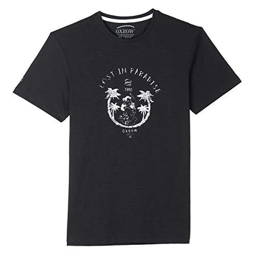 Oxbow N1TICALO Tee shirt manches courtes graphique Homme, Noir, 4XL