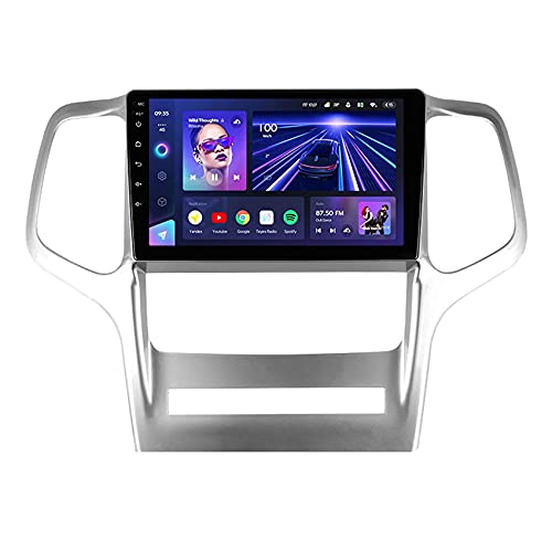 FDGBCF CC3 Android 10 Car Radio for Jeep Grand Cherokee WK2 2010-2013 Car Multimedia Player Navigation Stereo Video DSP Mirror Link Carplay Bluetooth Hands-Free SWC Backup Camera,8core 4G+WIFI: 4+64G