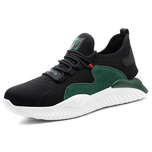 PWLSHN Zapatos de Seguridad para Hombres Zapatos de Acero con Punta de...