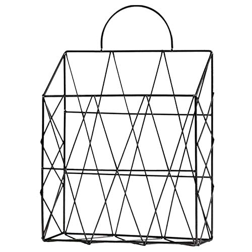 Gather together Magazine Holder Hanging Wall Mounted Newspaper Periodical Book Document File Organizer Basket Metal Shelf Storage Container Di