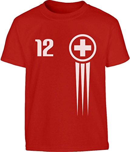 Maglia x Bimbi - Coppa del Mondo Calcio - Nazionale Svizzera Toddler Kids T-Shirt 6T Rosso