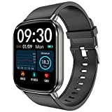 HalfSun Fitness Tracker, 2021 Upgrade Customize Face Smart Watch Fitness Watch with Heart Rate Blood Pressure Sleep Monitor, IP68 Waterproof Sport Watch with Calorie Counter, Pedometer (Black)