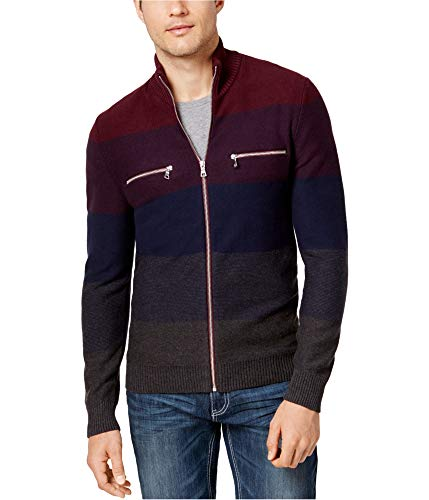 I-N-C Mens Copperfield Cardigan Sweater, Multicoloured, Small