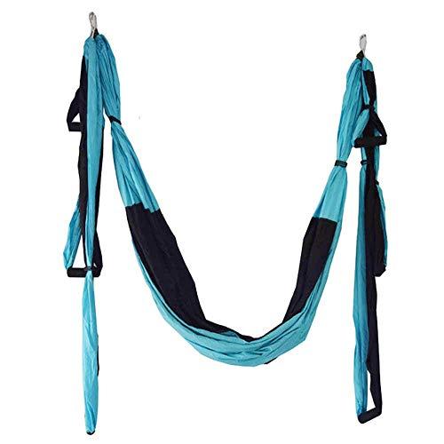 WYJW Hangmat voor camping, outdoor, yoga-antenne, anti-zwaartekracht, omkering, yoga, verlenging van het dienblad voor het ophangen van de riem, 2,5 x 1,5 m, 6 oranje
