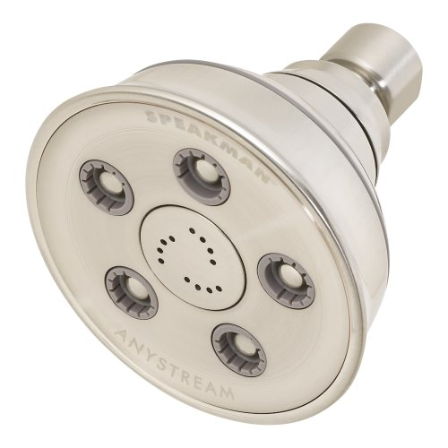 Speakman S-3014-BN Caspian Anystream High Pressure Adjustable Shower Head, Brushed Nickel