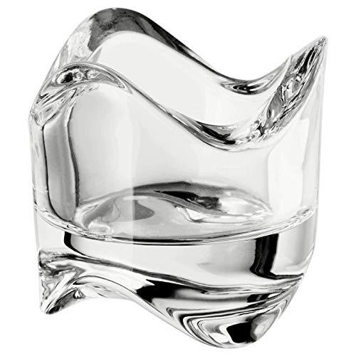 IKEA VASNAS Kandelaar was, helder glas, 1 stuk