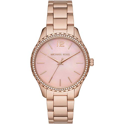 Michael Kors MK6848 Layton Uhr Damenuhr Edelstahl vergoldet 5 bar Analog Rose