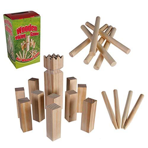 Preis am Stiel Wikinger Wurfspiel | Outdoor Spiele für Kinder | Gartenspiele | Spielzeug für draußen | Outdoorspielzeuge | Geschenkidee für Kinder | Geburtstagsgeschenk | Gartenspielzeug
