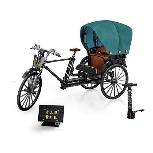SGBL Clásico Retro Bicicleta Todoterreno Rickshaw/Bicicleta de Montaña Kit de Bloques de Construcción de Modelos 3D de DIY Regalo de Juguete Educativo para Niños Adultos,C