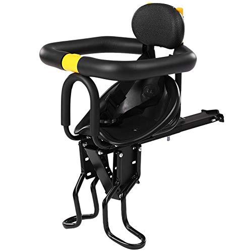 Elitlife FD702/FD756 Asiento de seguridad para niños, asiento delantero para bebé, con pedales, apoyo respaldo para bicicleta de montaña y de carreras