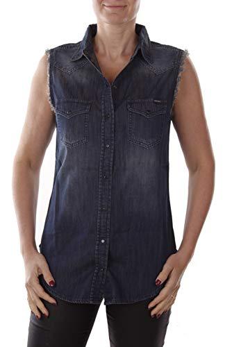 Diesel DE-Sovita Shirt Damen Jeanshemd (M, Blau)