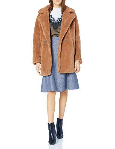 Jessica Simpson Damen Fashion Outerwear Jacket Daunenalternative, Mantel, Sherpa Cognac, X-Groß