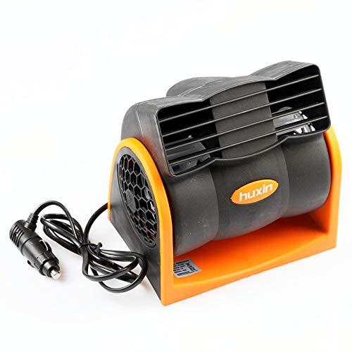 XPfj Evaporative Coolers Car 12V, 24V Bladeless Air Conditioning Fan Mute Car Electric Fan Super Powerful Adjustable Speed Turbo Fan (V : 24v) (Size : 24vOrange)