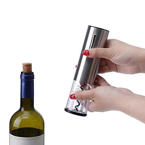 Junlucki Abridor de Vino, Kit de abrebotellas, eléctrico con indicador LED portátil para Restaurante de Hotel Bar