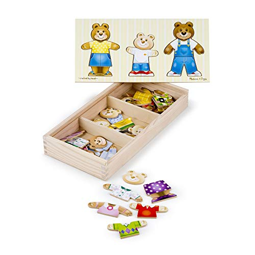 Melissa & Doug- Bear Family Dress-Up Juego Puzzle