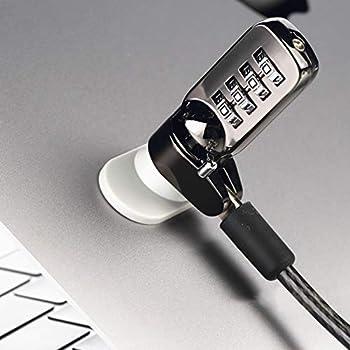 Weskjer Verrouillage Antivol pour Ordinateur Portable à Combinaison, Verrouillage de Sécurité à Combinaison pour Moniteur Dordinateur Portable PC Portable (Noir/Blanc)
