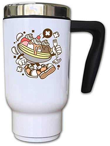 Iprints Cartoon stijl banaan Split stedelijke dessert thermische thee koffie mok