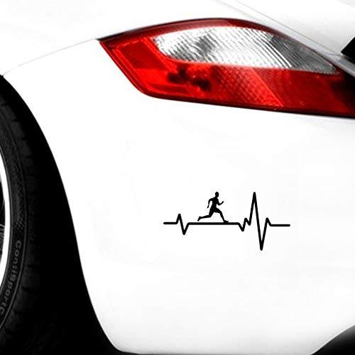 autoaufkleber Persönlichkeit Laufen Mann Herzschlag Aufkleber Auto Dekorative Aufkleber Zubehör