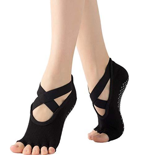 SULISO 1 PIEZA Calcetines Antideslizantes - Para Yoga Pilates Ballet Barre Mujer Hombre Hospital