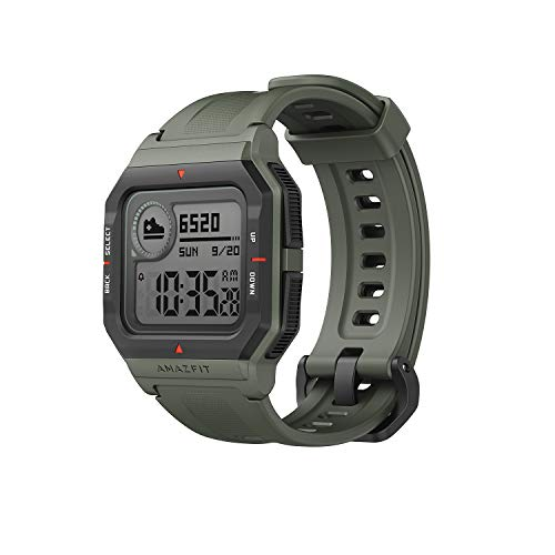 Amazfit Neo Smartwatch Retro-Design Fitness Armband mit 1,2'' Always-On-Display, Herzfrequenz- und Schlafüberwachung, 5 ATM Wasserdicht für Damen Herren (Grün)