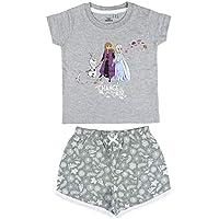 Cerdá Pijama Niña de Disney Frozen 2-Camiseta + Pantalon de Algodón Juego, Gris, 4 Años para Niñas
