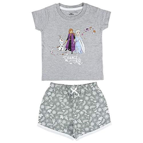 Cerdá Pijama Niña de Disney Frozen 2-Camiseta + Pantalon de Algodón Juego, Gris, 2 años para Niñas