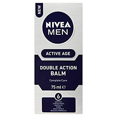 Nivea MEN ACTIVE AGE 6-in-1 Post Shave Balm (75 ml), Soothing After Shave and Anti Ageing Cream with Caffeine, Men's Skin Care and Shaving Essentials by Beiersdorf Uk Ltd