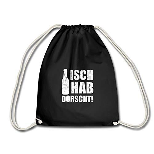 Sachsen Spruch Ich Habe Durst Sächsisch Dialekt Turnbeutel, Schwarz