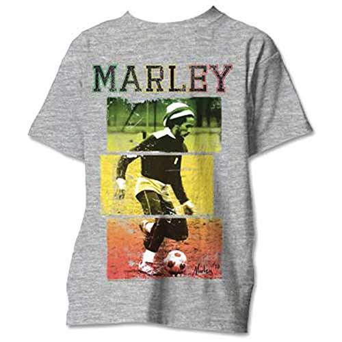 Unknown Herren T-Shirt Bob Marley Fußballtext Gr. M, grau
