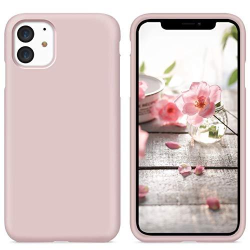 YiKaDa - Cover per iPhone 11, Custodia Liquid Silicone Leggero Cover Antiurto con Morbida Microfibra Fodera per iPhone 11 (6.1 inch) - Rosa