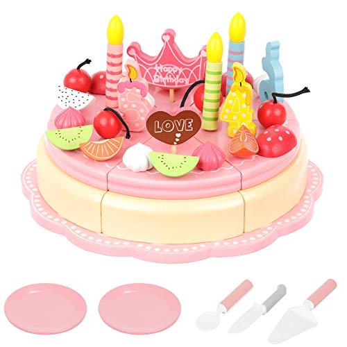 ISO TRADE Schneidekuchen Torte Holz 48 Teile Besteck Spielzeug 11223