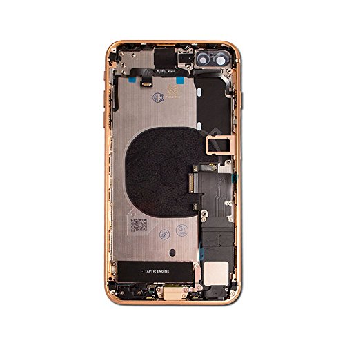 """Group Vertical Replacement Full Back Glass Assembly with Small Parts Compatible with Apple iPhone 8 Plus (A1864, A1897, A1898) (5.5"""") (Gold)"""
