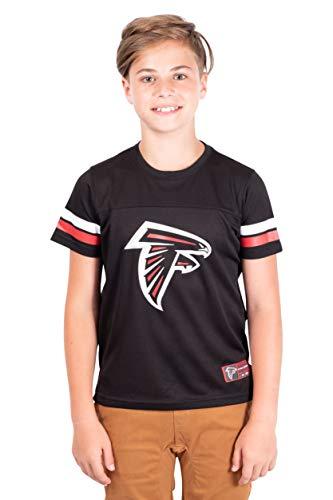 Ultra Game NFL Atlanta Falcons Youth Mesh Vintage Jersey Tee Shirt , Team Color, Medium
