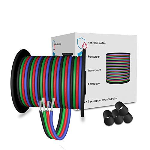 LEADTOPS 10M 22AWG 4-poliges LED Elektro RGB Kabel 22 Gauge 33FT Verlängerungs Kabel Leitungs Kabel für RGB-LED-Streifen 5050 3528