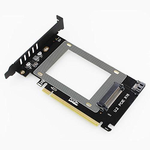 Módulo electrónico M.2 NGFF 2.5 'SSD a PCI-E X16 Intel X4 PCI-Express 3.0 4x X16 a U.2 SFF-8639 Adaptador NVME PCI-E SSD PCI-E A TO2 Tarjeta de expansión Equipo electrónico de alta precisión