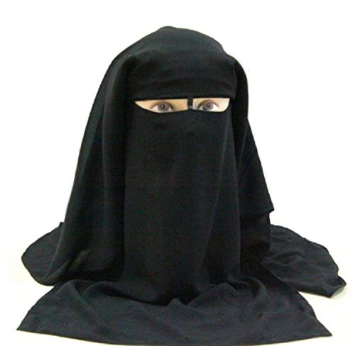 Niqab Islámico tradicional negro para mujer