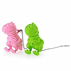 5. ISKYBOB Cute Silicone Dinosaur Infuser (set of 2)