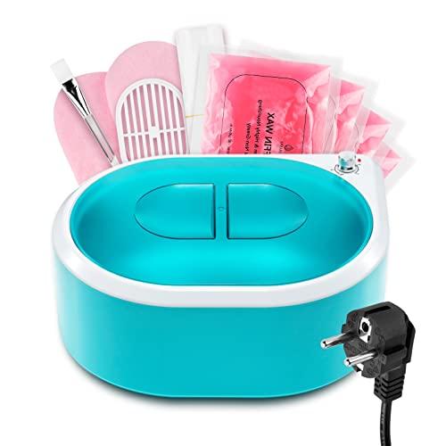 AYITOO Paraffinbäder Wachsbad 265W für Hände und Füße mit Zubehör, Elektrisches Wachsbad mit Paraffinwachs, Paraffin Wachsbad für Hände und Füße Gerät Grün