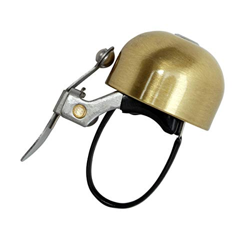 Crane Bike Bell, Scotch Brite Brass 'E-Ne' Bicycle Bell, Made in Japan for Road Bikes or Mountain Bikes, Fits All Handle Bar Sizes & Types