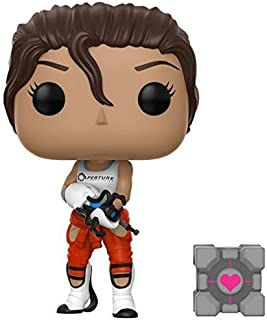 Funko POP Games: Chell Collectible Vinyl Figure with Portal Gun