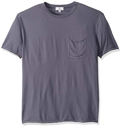 AG Adriano Goldschmied Men's Anders raw Edge Pocket tee, Still Waters, L