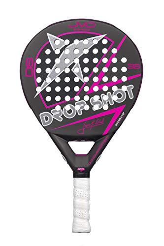 DROP SHOT Conqueror Tech Red Pala de pádel, Adultos Unisex